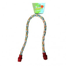 Beaks! Bendy Bird Rope Perch - Small - 15mm (0.6in) x 61cm (24in) Long