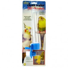 JW Pet Clean Water Silo - Bird Waterer - Tall (Assorted Colours)