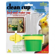 JW Pet Clean Cup Feed and Water Cup for Birds - Medium (Assorted Colours)