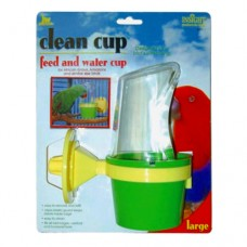 JW Pet Clean Cup Feed and Water Cup for Birds - Large (Assorted Colours)