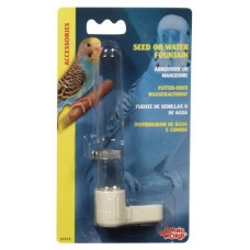 Living World Glass Feeder with Clip - 6 Inches