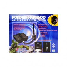 Pondmaster 1500 - Submersible Filter System - 1,893 LPH (500 US GPH) Max Flow - for ponds up to 2,271 L (600 US Gal)